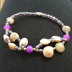 sea shells beaded bracelet